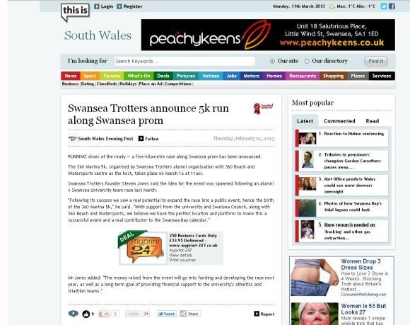 South Wales Evening Post, 360 marina 5k